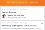 Pigeonhole Live screenshot: Full event agenda complete with session description and speaker profiles