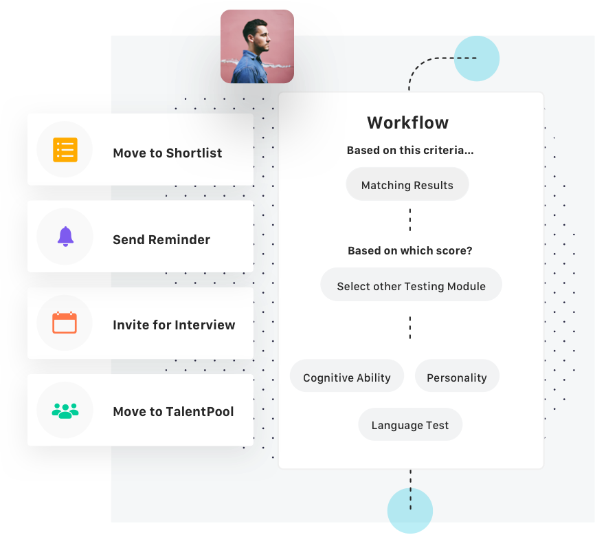Harver workflow builder screenshot