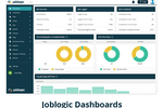 JobLogic screenshot: DASHBOARDS & REPORTING:  - Data visualisation - Management reporting - Customer reporting