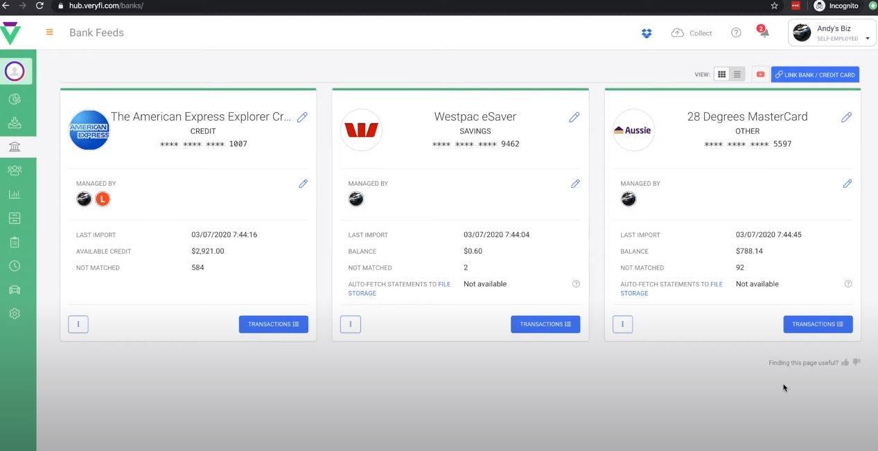 Veryfi Receipts OCR & Expenses Software - Veryfi bank feeds
