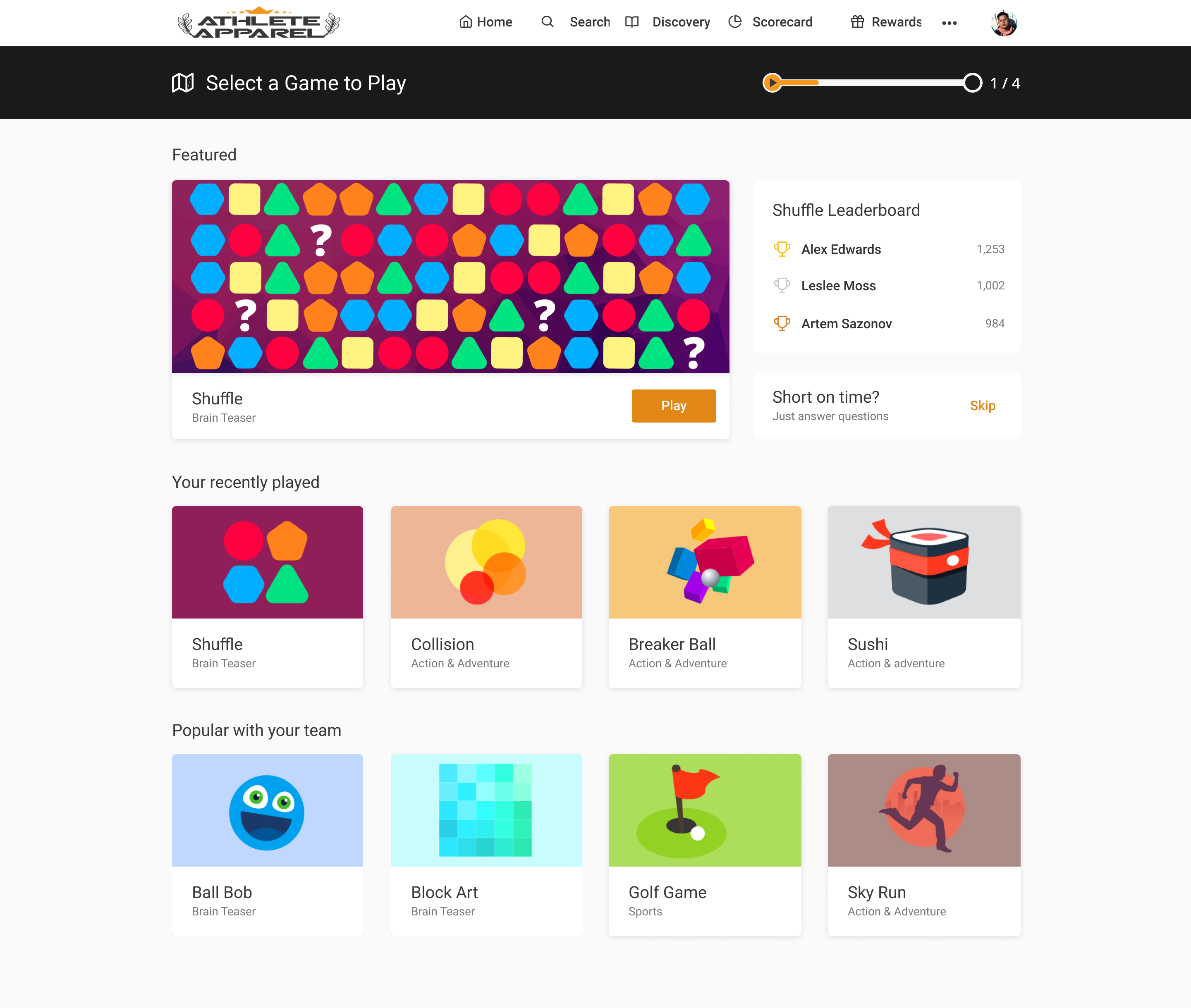 Axonify Software - One of the reasons why engagement on our platform is high is because of gamification. We design games that your frontline teams will love. Leaderboards  help create friendly competition between individuals, teams or locations.