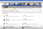 Edtek LMS screenshot: Hosted LMS - Allows users to create folders and add elements to it