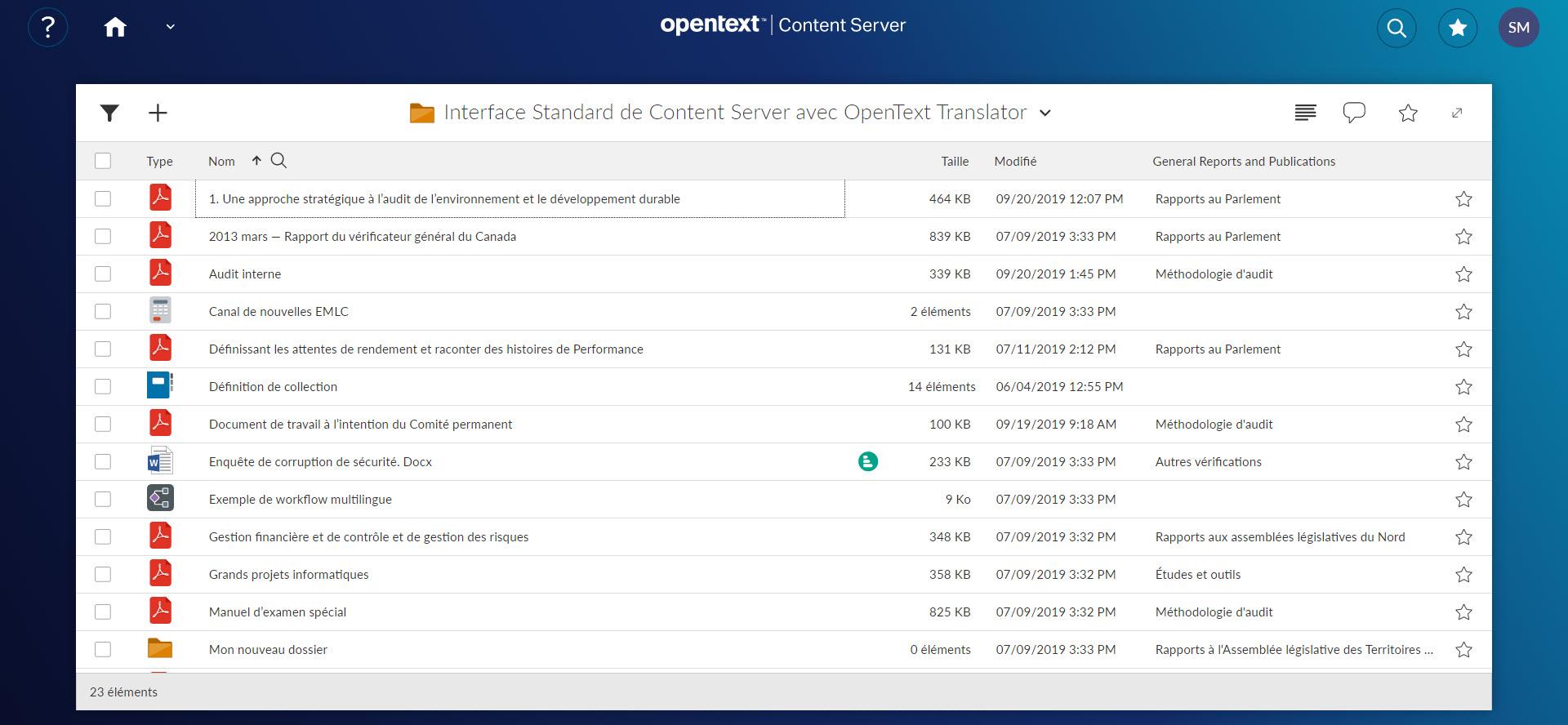 Smart UI with OpenText Translator (FR)