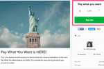 Sellfy screenshot: Users can set up 'Pay What You Want' on their products in Sellfy