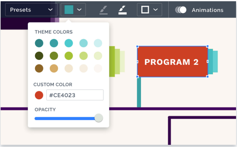 Customize with a wide range of fonts and colors