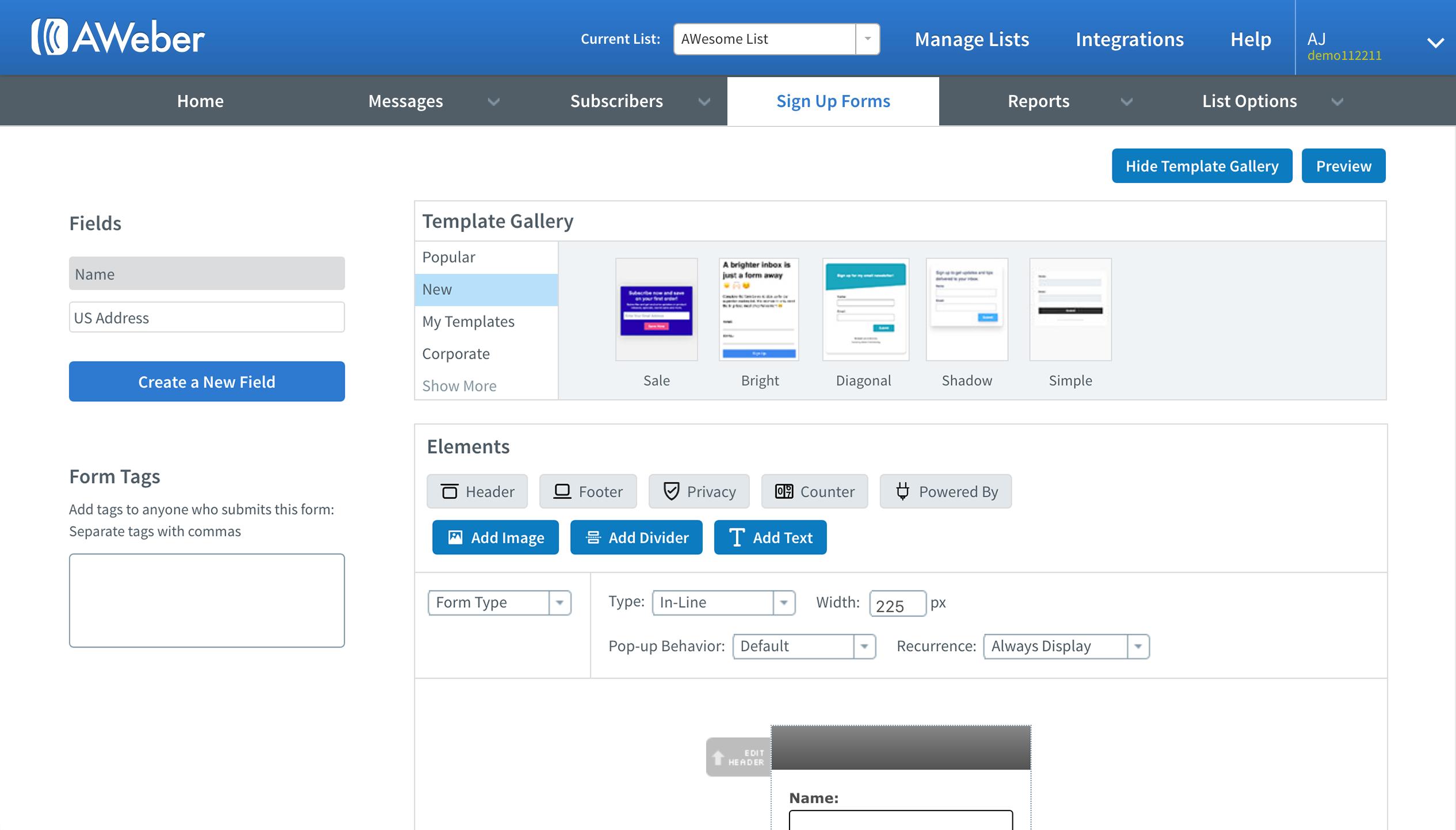 AWeber Software - Sign Up Form Builder