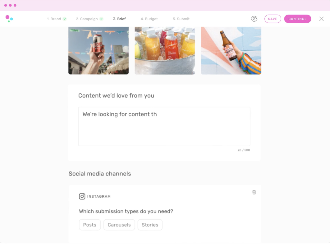 TRIBE - content sourcing