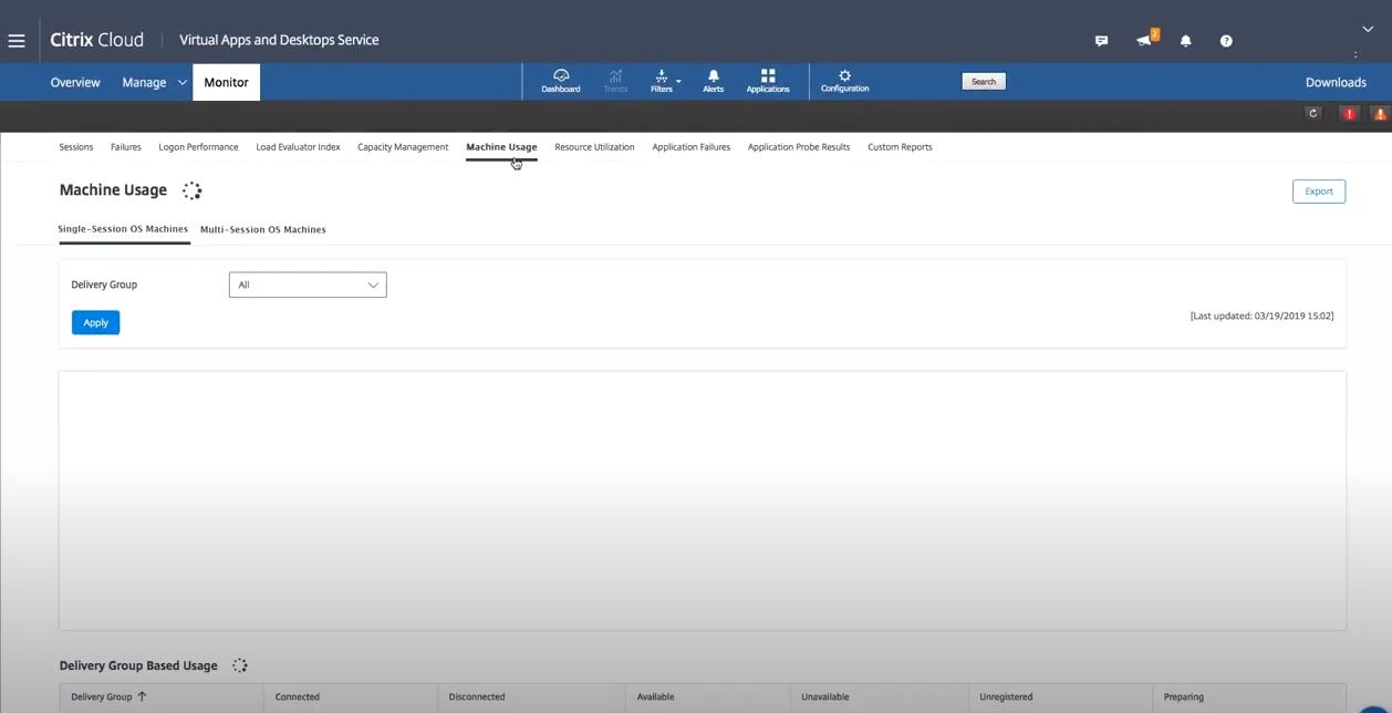Citrix Virtual Apps and Desktops monitoring