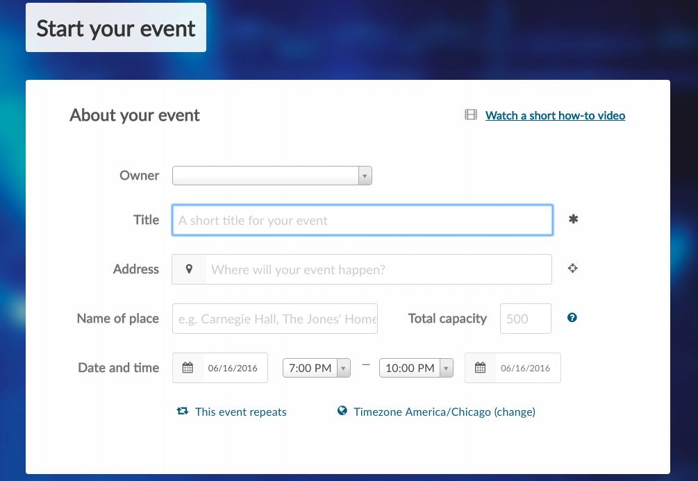 Ticketbud create new event