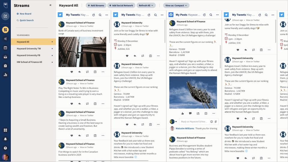 Hootsuite Software - Social Media Monitoring
