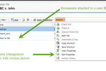 Legal Track screenshot: Attach all important case-related documents to their respective case file