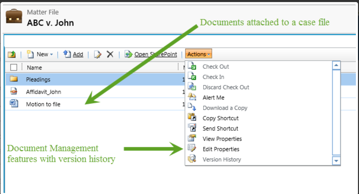 Attach all important case-related documents to their respective case file