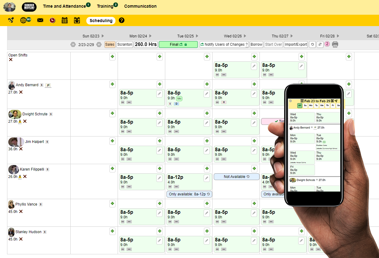 Scheduling at your fingertips! Across multiple platforms.
