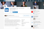 LinkedIn for Business screenshot: LinkedIn offers a one-click apply feature to submit your LinkedIn profile for the job opportunity