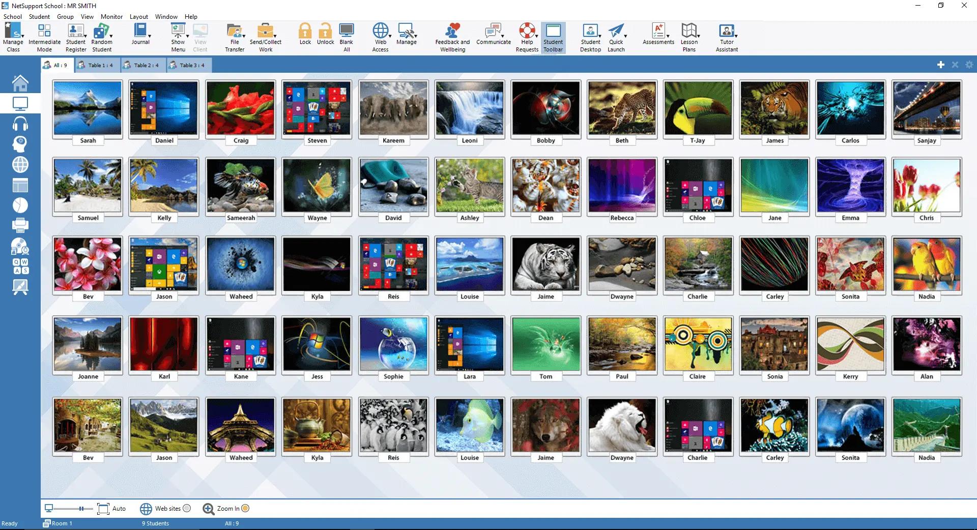 NetSupport School Software - NetSupport School - Thumbnail view