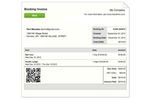 Checkfront screenshot: Booking Invoice with QR Code