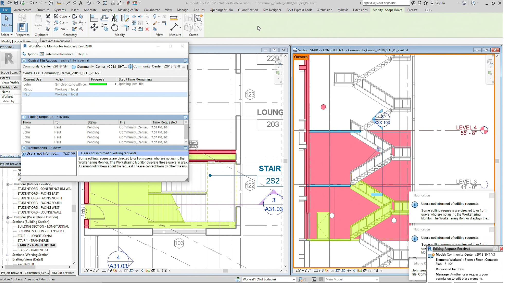 Revit Software - Revit worksharing & collaboration