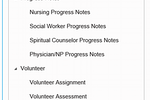 MedBillit screenshot: A range of different progress notes are available