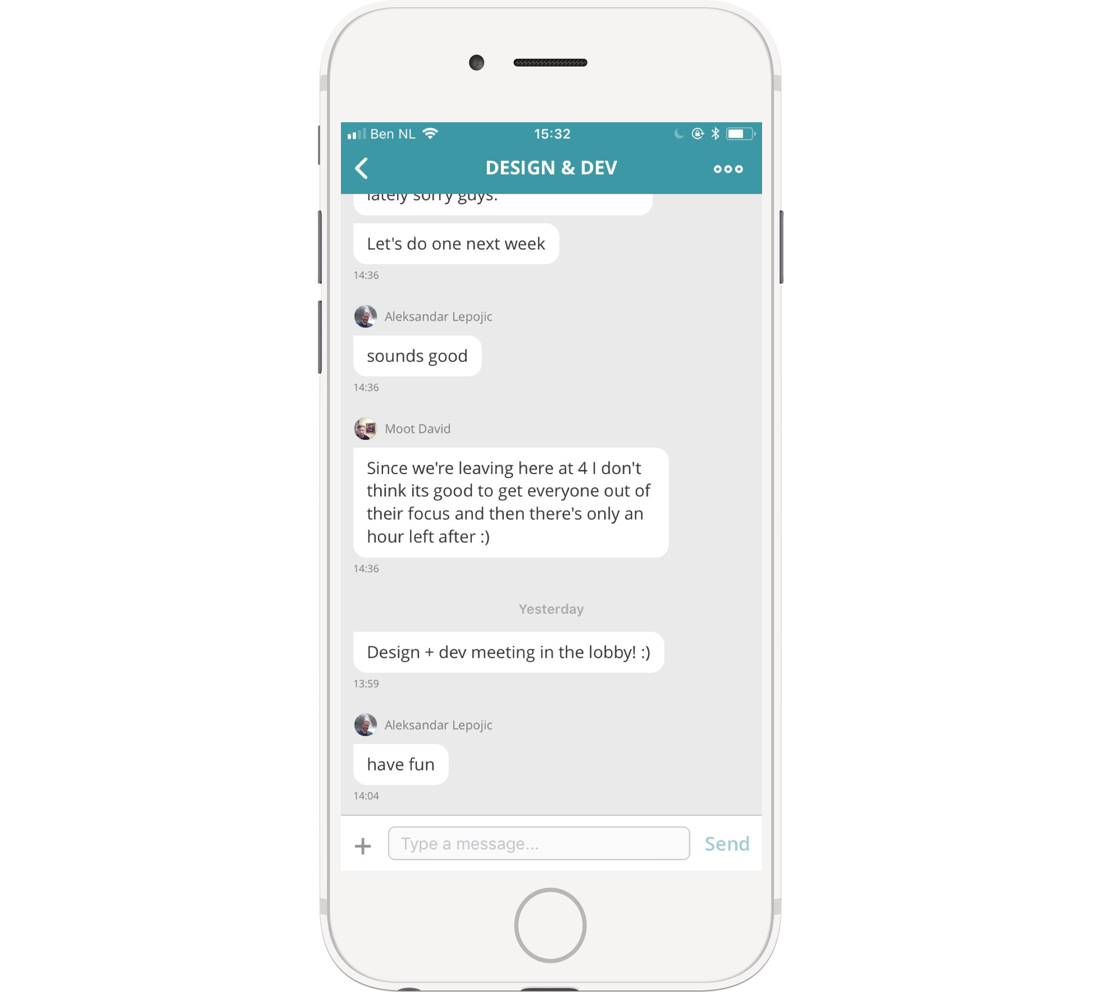 Collaborate wherever you are: access your group documents, chat or other information from your phone. Or start a new group!