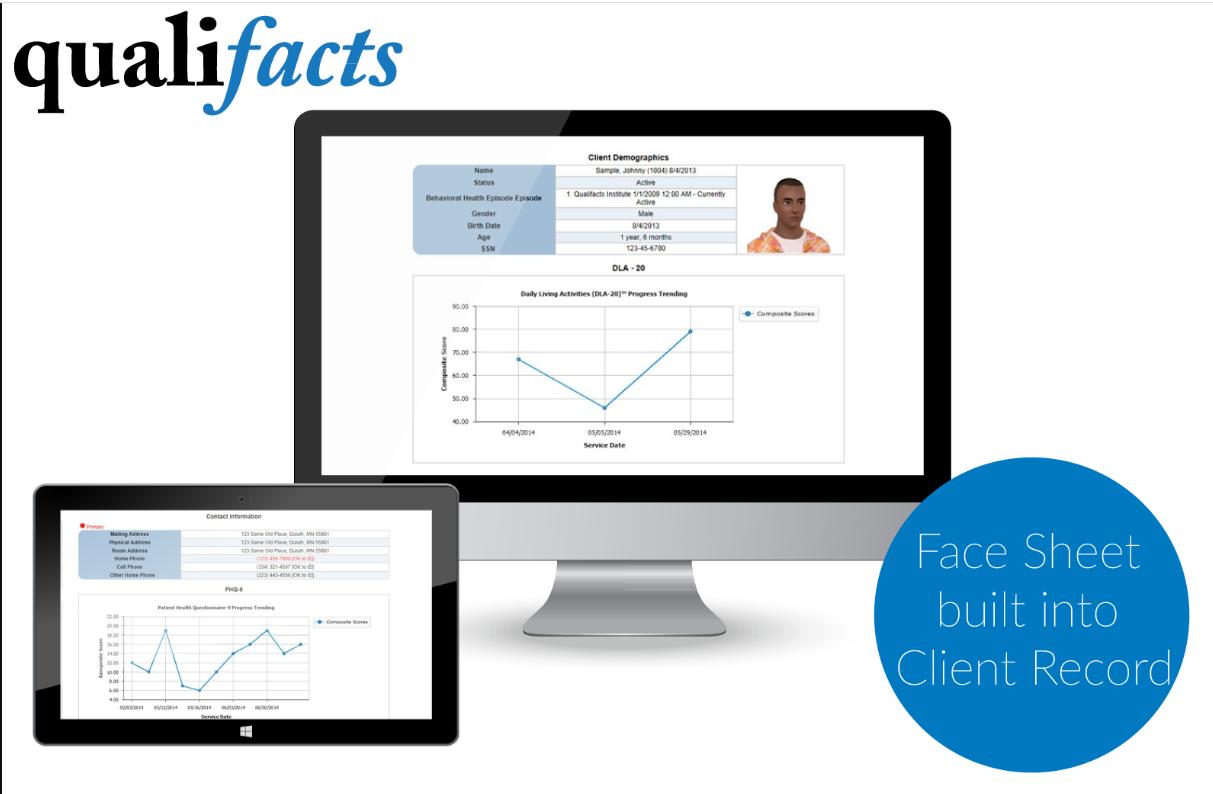 CareLogic Enterprise - Qualifacts face sheet
