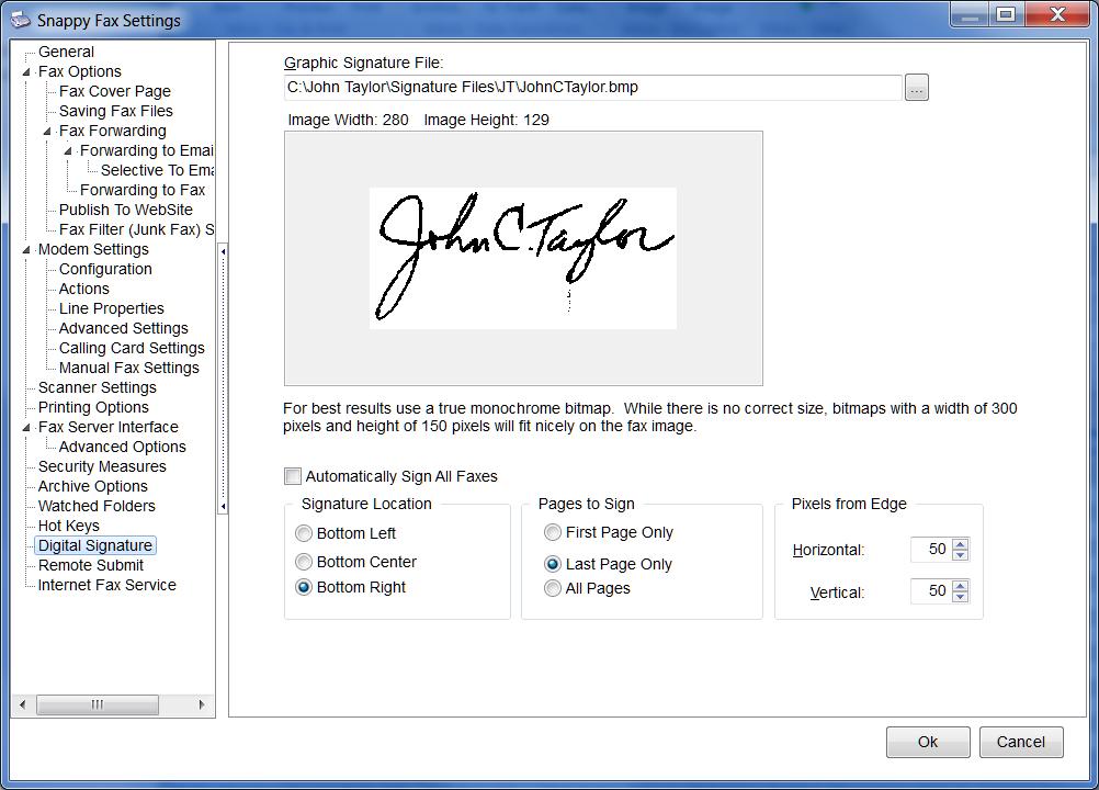 Snappy Fax signature