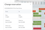 Little Hotelier screenshot: Easy to make changes to reservations