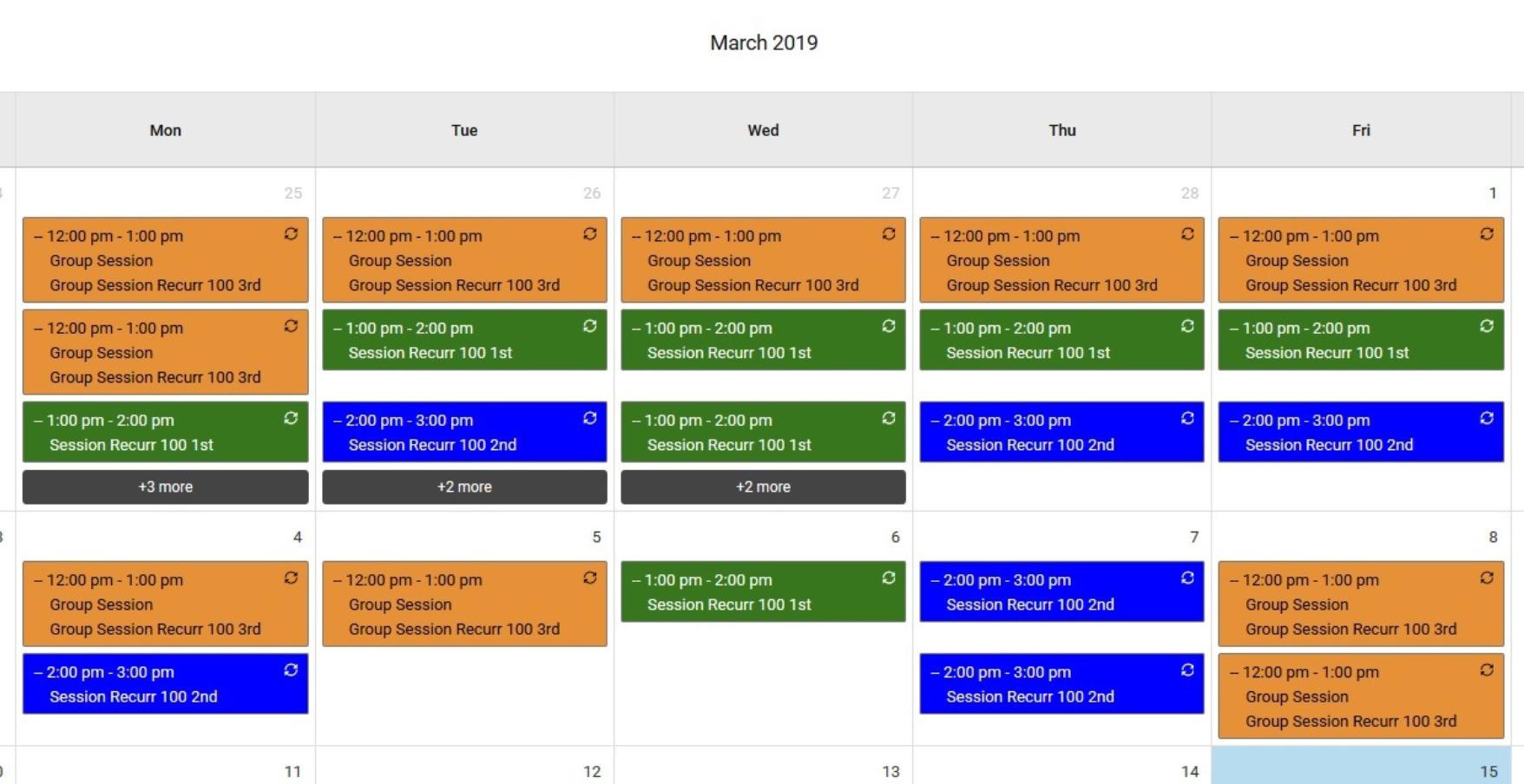 Bizstim appointment calendar
