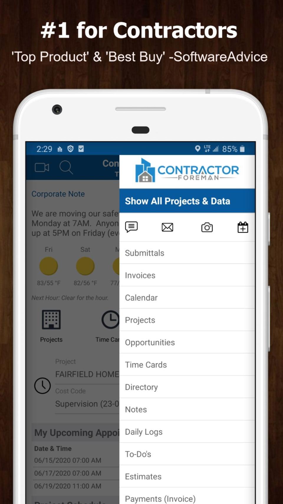 Contractor Foreman Logiciel - 1