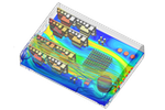 SimScale screenshot: Thermal analysis of an electronics enclosure with SimScale
