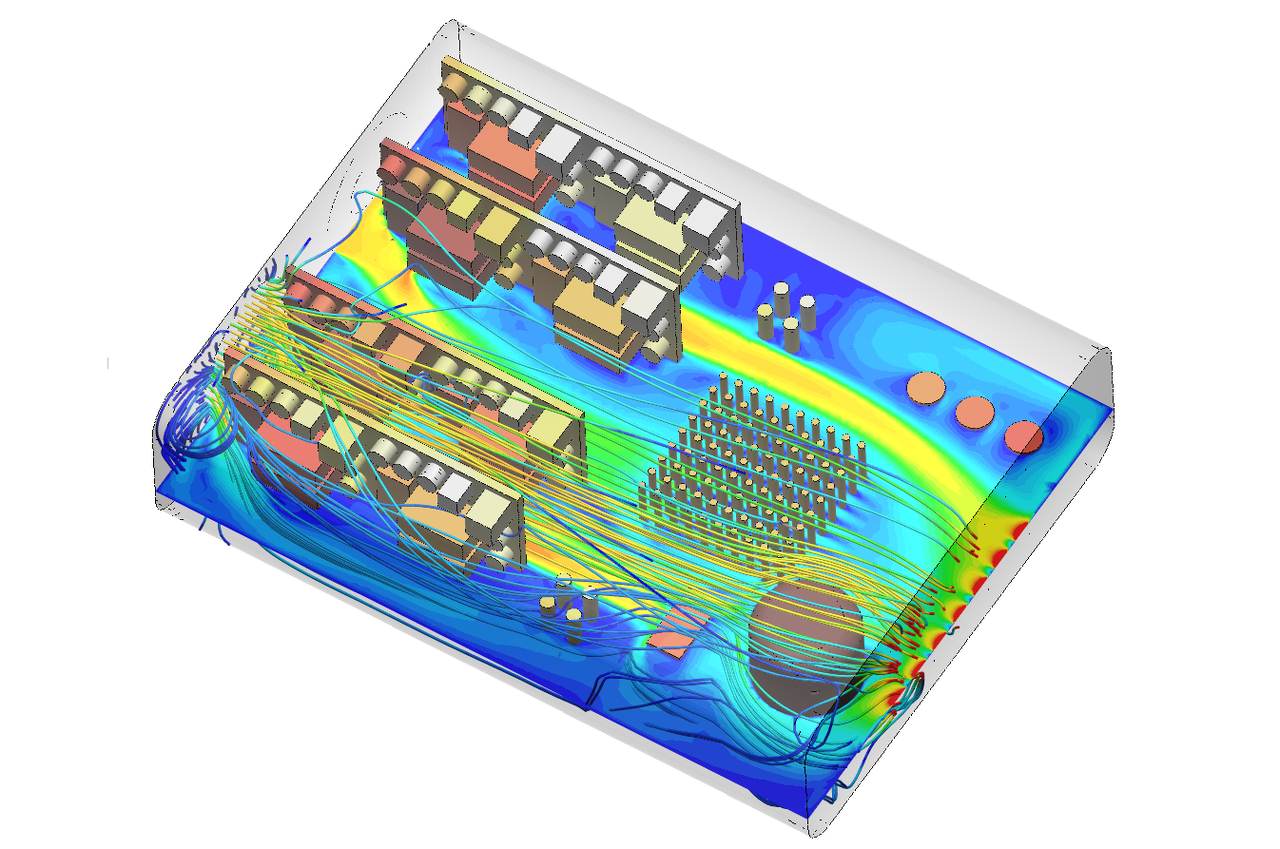 Thermal analysis of an electronics enclosure with SimScale
