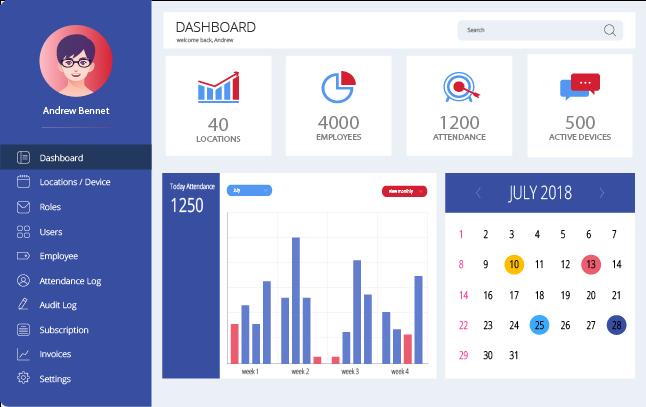 AttendLab screenshot: AttendLab dashboard