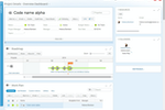 Clarizen screenshot: Use the overview dashboard to understand enterprise project plans at a glance