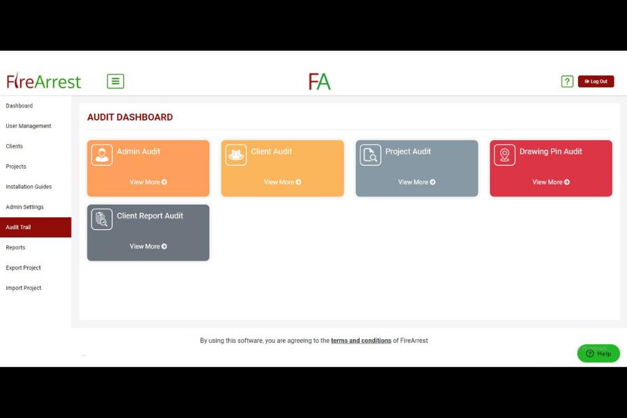 FireArrest audit options
