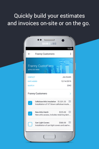 Build estimates and invoices from anywhere