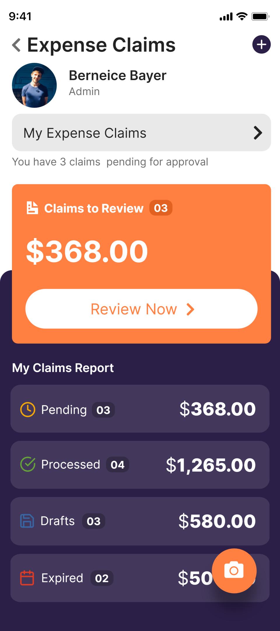 Deskera manage expense claims