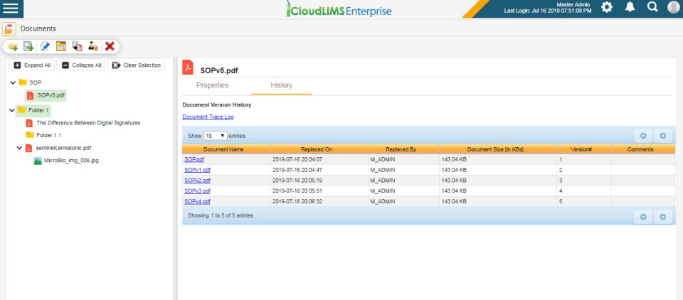 CloudLIMS: Centralized document management