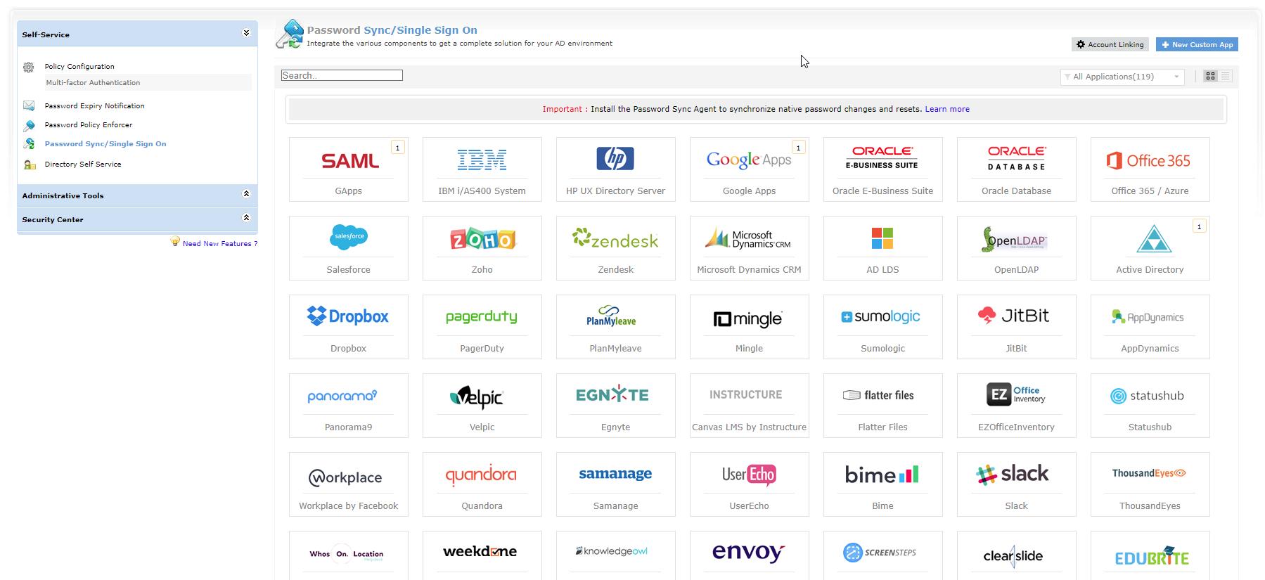 ADSelfService Plus SSO search
