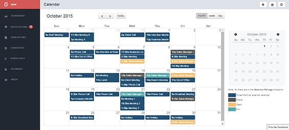 The scheduler integrates with Outlook, Google Calendar, and iCalendar