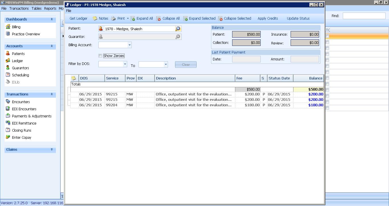 MedGre billing file
