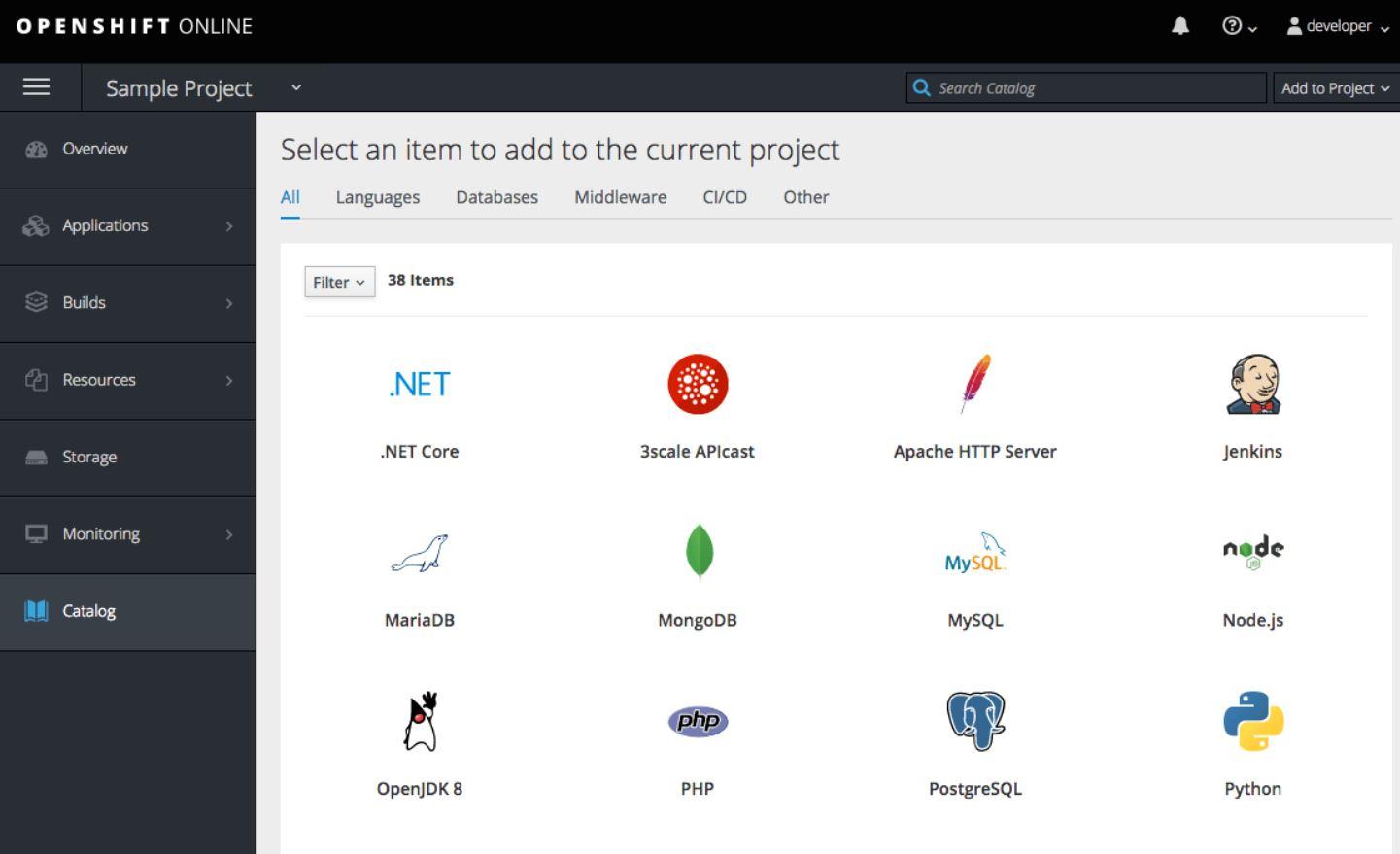OpenShift catalog