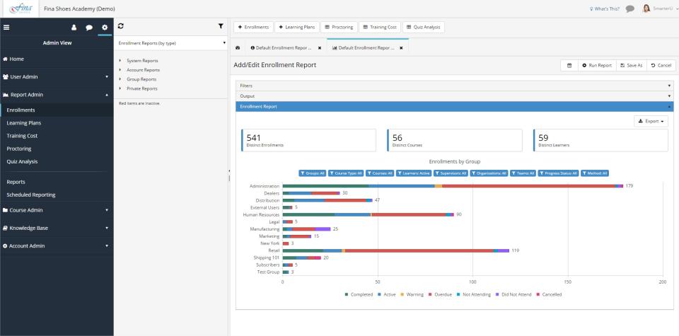 SmarterU LMS Software - Robust Reporting
