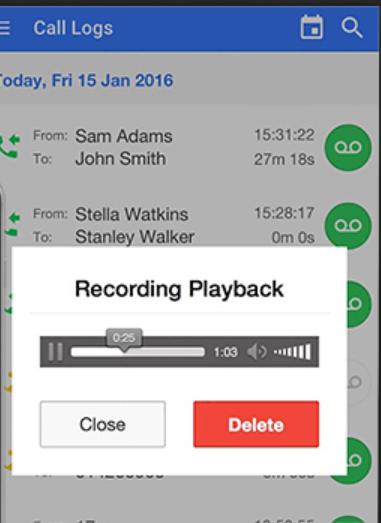 NUACOM Software - NUACOM recording playback
