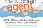 MaxContact screenshot: PCI-DSS compliance