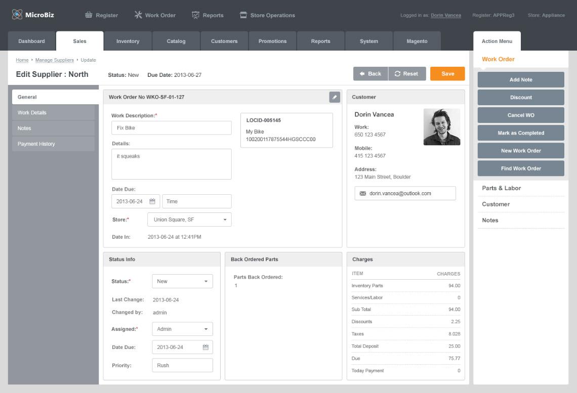MicroBiz Cloud POS Software - Supplier management