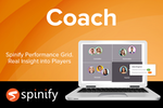Captura de pantalla de Spinify: Managers need to know when to coach staff and what action to take.
