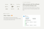 Capture d'écran pour Akita : Akita connects with the software your business already uses and our Slack assistant will keep the entire organization informed of your Customer Success efforts.