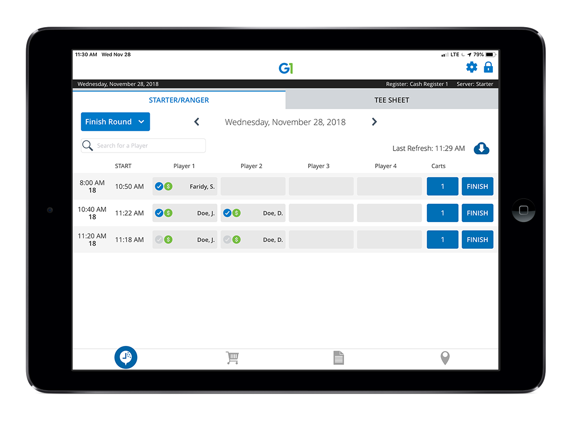 GolfNow Software - G1 by GolfNow electronic tee sheet