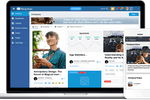 Captura de pantalla de MangoApps: Vibrant and interactive single source of information that is accurate, up-to-date and cuts down the time employees spend finding information