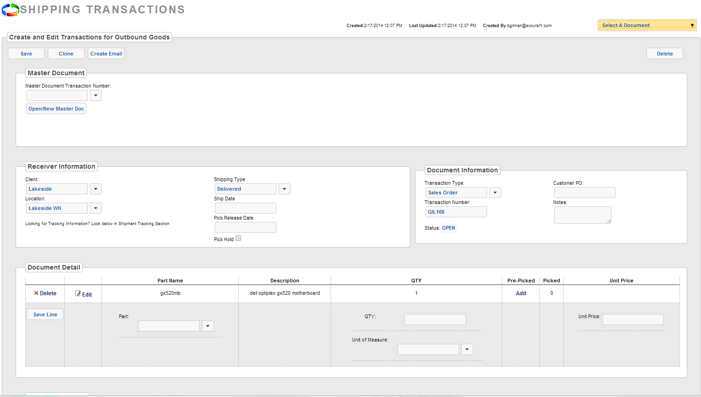 TopShelf Inventory Management Software - Shipping admin