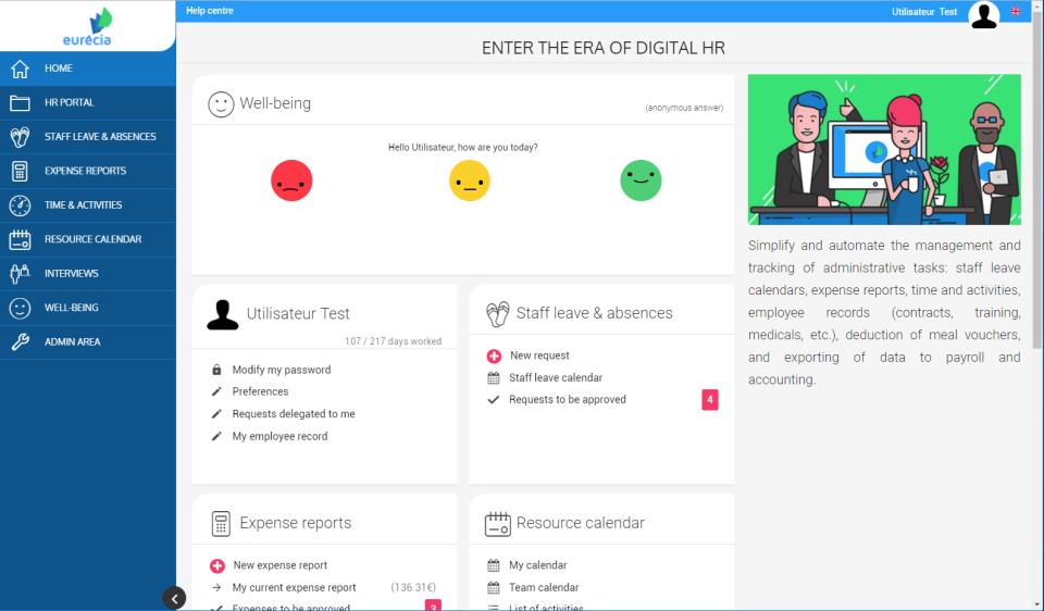 Eurecia Software - Eurecia centralized dashboard